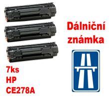 7ks kompatibilní toner HP CE278A MP print + dálniční známka