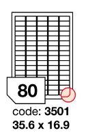 Samolepící etikety Rayfilm Office 35,6x16,9 mm 300 archů, inkjet, R0105.3501D