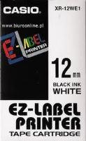 Páska do tiskárny štítků Casio XR-12WE1 12mm černý tisk/bílý podklad