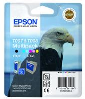 Inkoustová cartridge Epson Stylus Photo 870, 875D, C13T00740310, černá+barevná, ori
