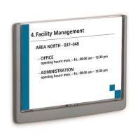 Informační tabulka Durable Click Sign, 148,5x210 mm, šedá