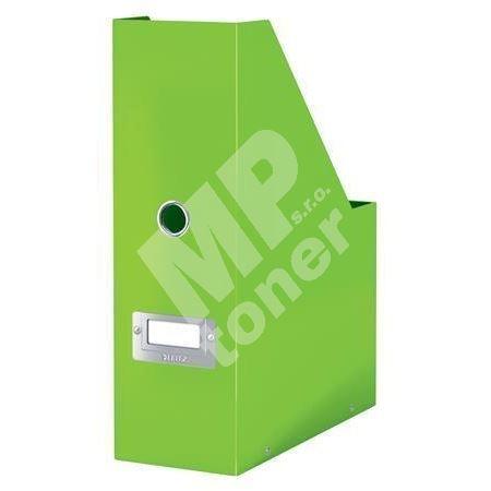 Stojan na časopisy Click & Store, zelená, lesklý, 95 mm, PP/karton, LEITZ 1