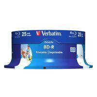 25GB Verbatim BD-R SL, Hard Coat protective layer, Spindle, 43811, 6x, 25-pack