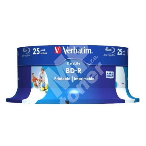 Verbatim 25GB BD-R SL, Hard Coat protective layer, spindle, 43811, 6x, 25-pack 1