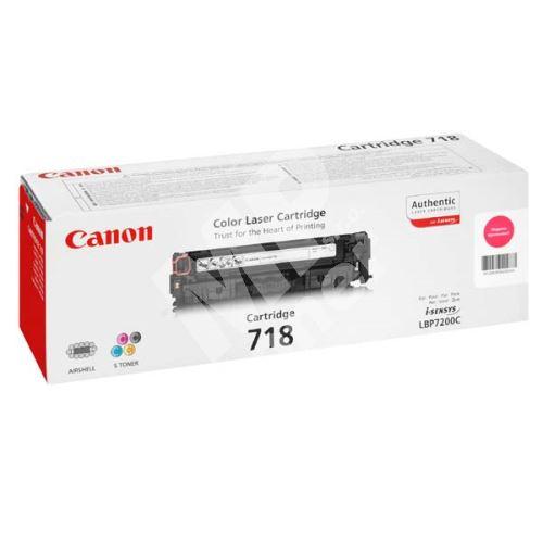 Toner Canon CRG718M, magenta, originál 1