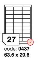 Samolepící etikety Rayfilm Office 63,5x29,6 mm 300 archů R0103.0437D