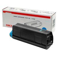 Toner OKI 42127407, C5100 5200 5300 5400 modrý originál