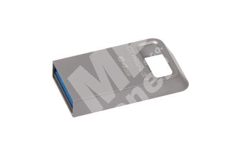 Kingston 64GB Data Traveler micro, USB flash disk 3.1/3.0, stříbrná 1