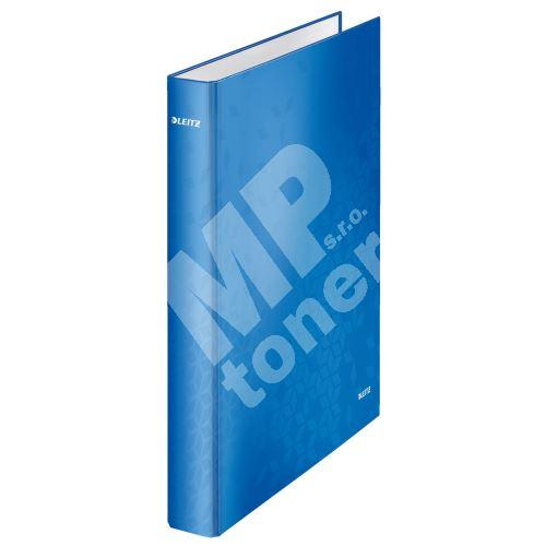 Kroužkový pořadač Wow, modrá, 4 kroužky, 40 mm, A4, karton, LEITZ 1