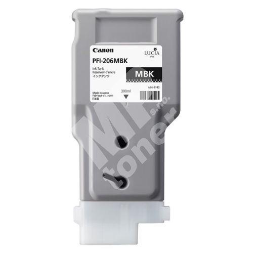 Inkoustová cartridge Canon PFI-206MBK, imagePROGRAF IPF6400, black, 5302B001, originál