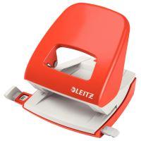 Celokovová stolní děrovačka Leitz New NeXXt 5008, světle červený