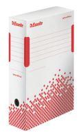 Archivační krabice Esselte Speedbox, 100 mm, bílá/ červená
