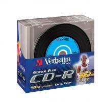 Verbatim CD-R, DataLife PLUS, 700 MB, Vinyl, slim box, 43426, 52x, 10-pack