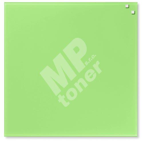 Skleněná magnetická tabule Naga 45 x 45 cm, světle zelená 1