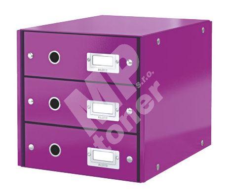 Zásuvkový archivační box Leitz Click-N-Store, 3 zásuvky, fialová 1