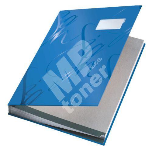 Podpisová kniha designová Leitz, modrá 1