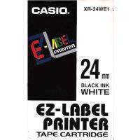 Páska do tiskárny štítků Casio XR-24WE1 24mm černý tisk/bílý podklad originál