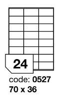 Samolepící etikety Rayfilm Synthetic 70x36 mm 100 archů, průhledné, R0400.0527A