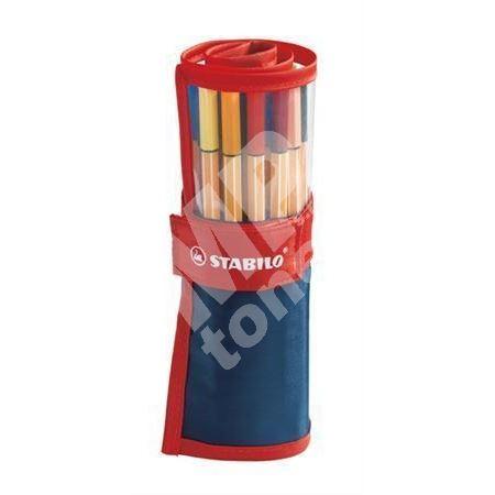 Liner Point 88, 25 barev, rolovací pouzdro, 0,4mm, STABILO 1