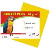 Barevný papír A4, 80g, žlutý, 100 listů