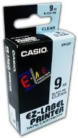 Páska do tiskárny štítků Casio XR-9X1 9mm černý tisk/průhledný podklad