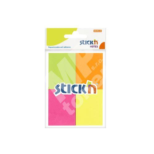 Samolepicí bločky Stick n mix neonových barev, 38 x 51 mm 1