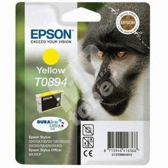 Inkoustová cartridge Epson C13T08944010, Stylus S20/SX100/SX200/SX400, žlutá, originál