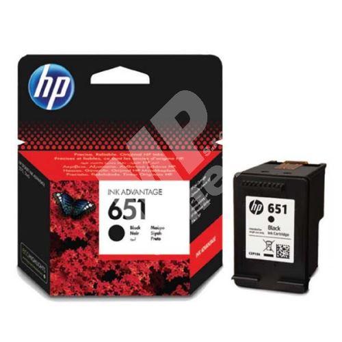 Cartridge HP C2P10AE, black, No.651, originál 1