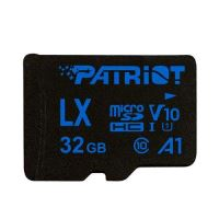 32GB Patriot microSDHC V10 A1, class 10 U1 až 90MB/s + adapter
