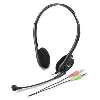 Genius HS-200C, sluchátka s mikrofonem, černé, 3.5 mm konektor