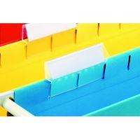 Plastový rozlišovač s papírovým štítkem, Esselte Classic, náhradní, 1bal/25 ks