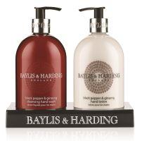 Baylis & Harding Tekuté mýdlo + Mléko na ruce - Černý pepř a Ženšen, 2x500ml