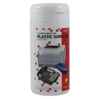 Čisticí trhací ubrousky na plasty, dóza, 100ks, L