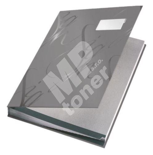 Podpisová kniha designová Leitz, šedá 1