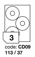 Samolepící etikety Rayfilm Office průměr 113/37 mm 300 archů R0103.CD09D