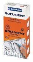 Popisovač Centropen 2631 dokument 0,1 červený 2