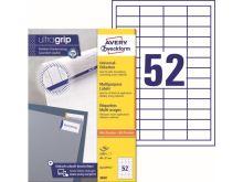 Samolepící etikety Ultragrip 48 x 21 mm, 100 listů A4 3650