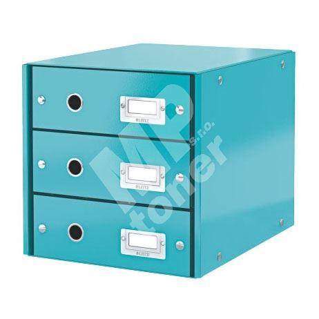Zásuvkový archivační box Leitz Click-N-Store, 3 zásuvky, ledově modrý 1