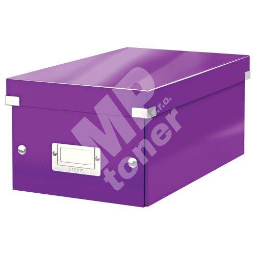 Archivační krabice na DVD Leitz Click-N-Store WOW, purpurová 1
