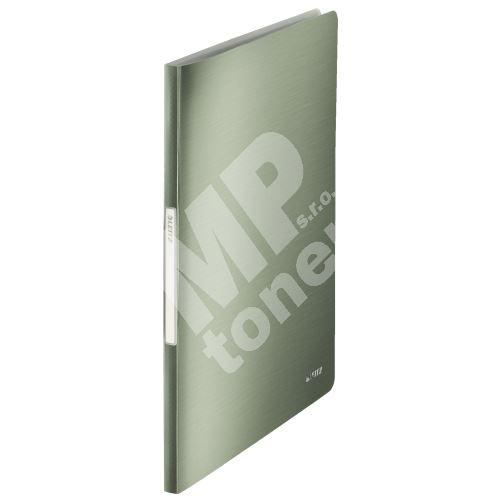 Katalogová kniha Leitz STYLE, 20 kapes, zelenkavá 1