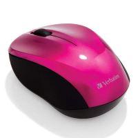 Verbatim myš bezdrátová 1 kolečko, USB, růžová, 1600dpi 5