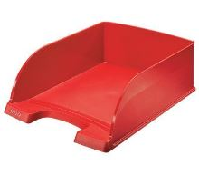 Odkladač Leitz Jumbo Plus, červený