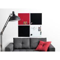 Skleněná magnetická tabule 40x60 cm – červená