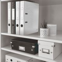 Pákový pořadač 180 Wow, bílá, 52 mm, A4, PP/karton, LEITZ 3