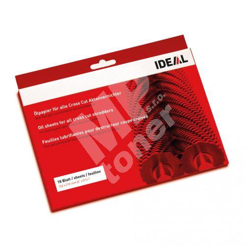 Olejový papír Ideal 18 listů pro skartovače s příčným řezem 2