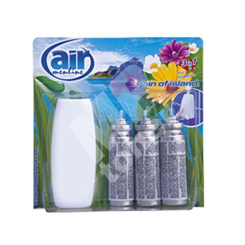Air Menline Rain of Island Happy spray osvěžovač vzduchu komplet + náplně 3 x 15 ml 1