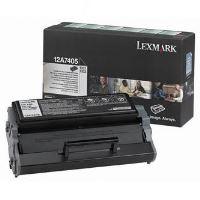 Toner Lexmark E323, E323 černá, 12A7405, return originál