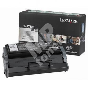 Toner Lexmark E323, E323 12A7405, černá, originál 1