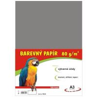Barevný papír A3, 80g, šedý, 100 listů