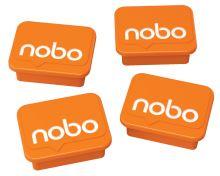 Magnety, oranžová, 4 ks, NOBO 6